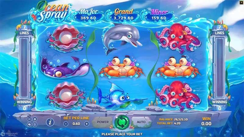 Ocean Spray เกมสล๊อตออนไลน์